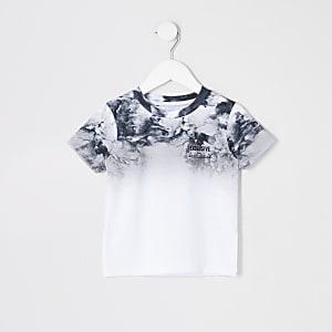 Mini - Grijs T-shirt met vervagend rookeffect voor jongens
