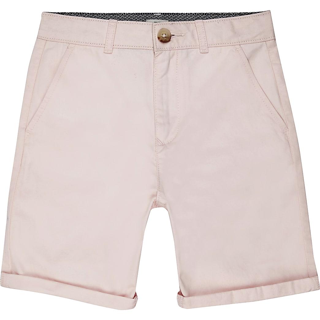 Boys pink smart chino shorts