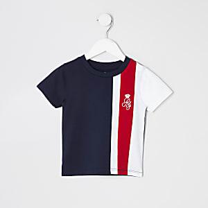 T-shirt avec rayure rouge à logo RI pour mini garçon