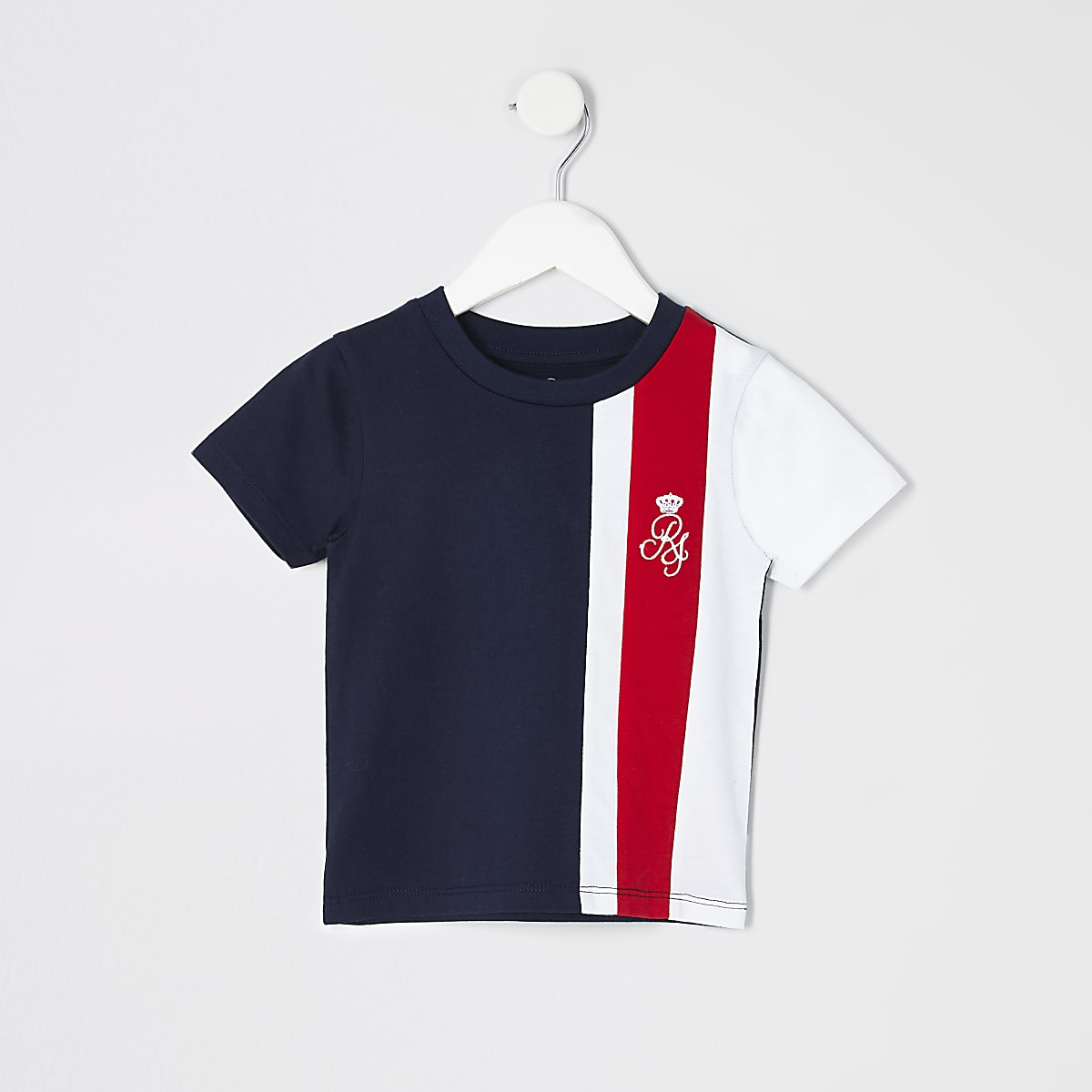 Mini boys red RI stripe T-shirt