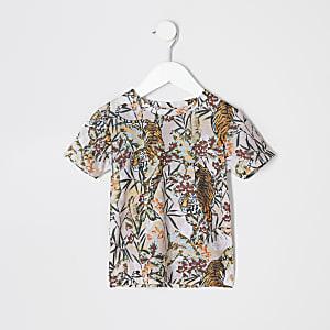 Mini - T-shirt met tijgerprint voor jongens