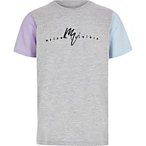 Maison Riviera - T-shirt met contrasterende mouwen voor jongens