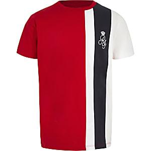 T-shirt colour block rouge pour garçon