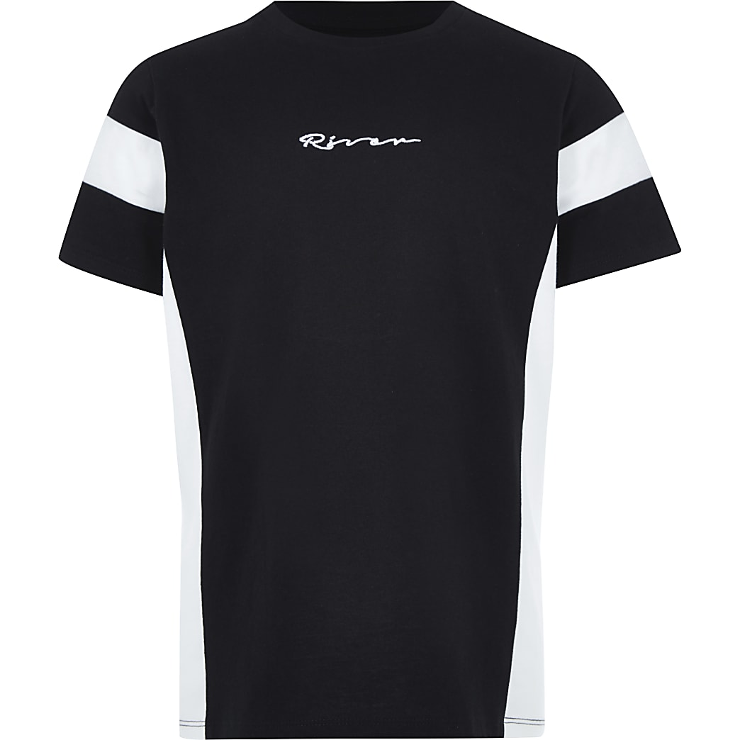 Boys black 'River' T-shirt