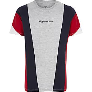 Rood T-shirt met kleurvlakken voor jongens