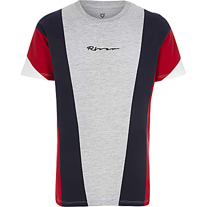 Boys red block T-shirt