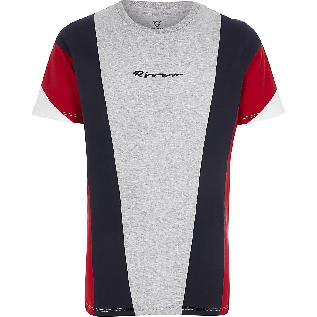 Boys red block T-shirt