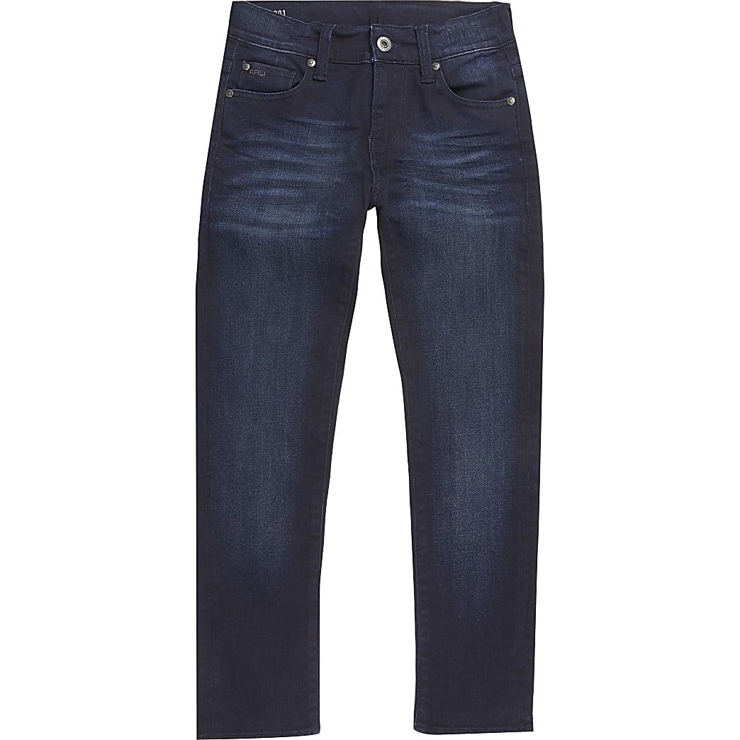 G-Star Raw - Blauwe3301 smalle jeans voor jongens