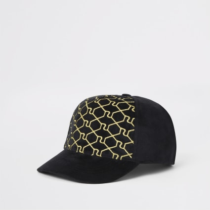 Black Ob Black Ri Trellis Cap