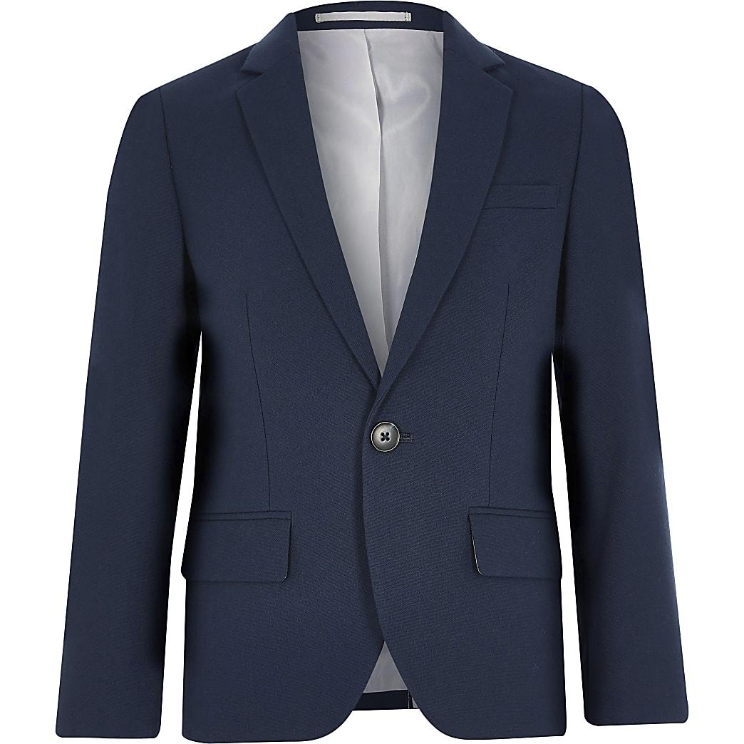 Blazer de costume bleu marine pour garçon