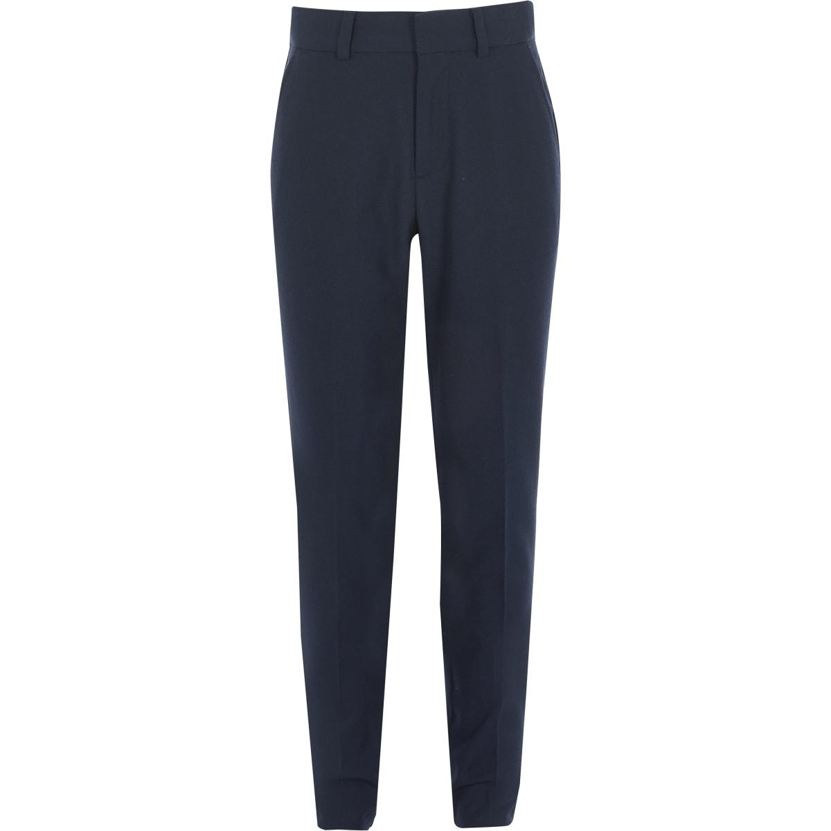 Marineblauwe broek met rechte pijpen voor jongens