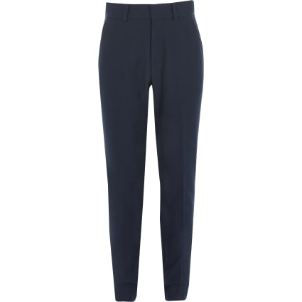 Boys navy straight leg trousers