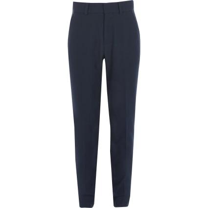 Boys navy straight leg trousers