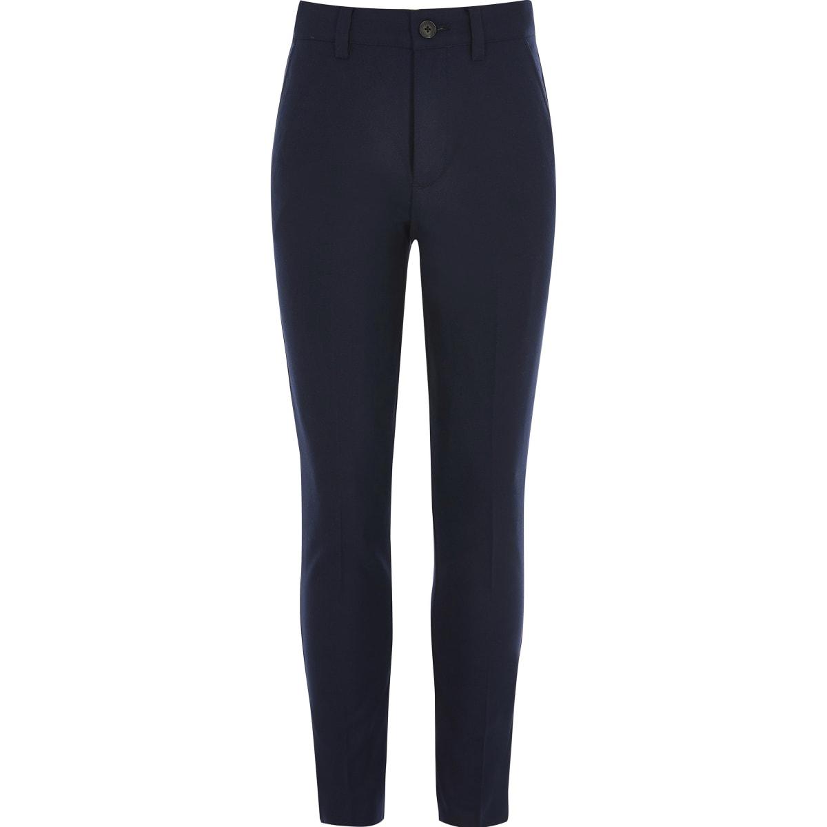 Pantalon skinny bleu marine pour garçon