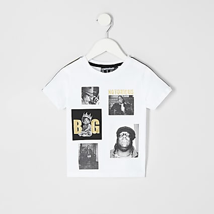 Mini boys Notorious B.I.G. print T-shirt
