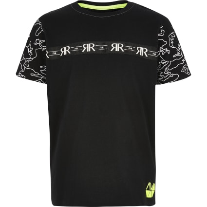 Boys black RI Active tape T-shirt