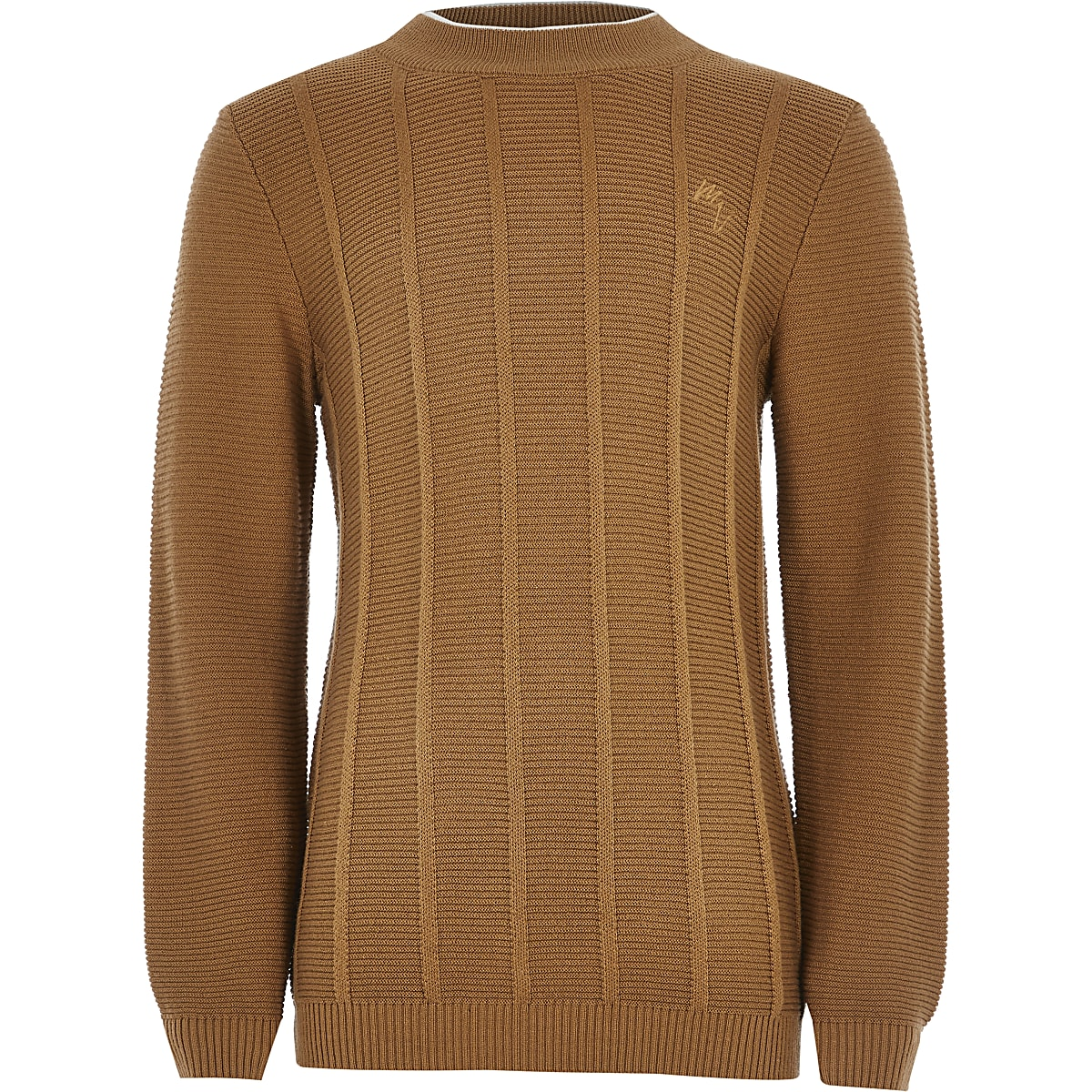 Boys brown Maison Riviera knitted jumper
