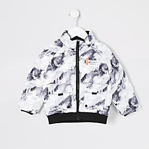 Prolific – Graue Daunenjacke mit Print für kleine Jungen