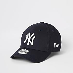 New Era – Casquette «NY» bleu marine à visière incurvée pour garçon