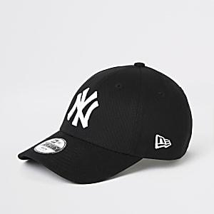 d5c5216c Boys black New Era NY curve peak cap