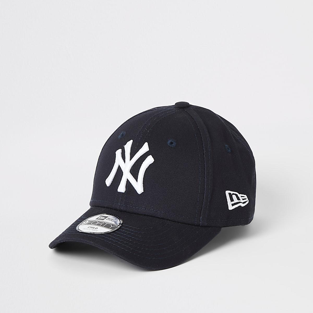 Mini boys New Era NY navy curved peak cap