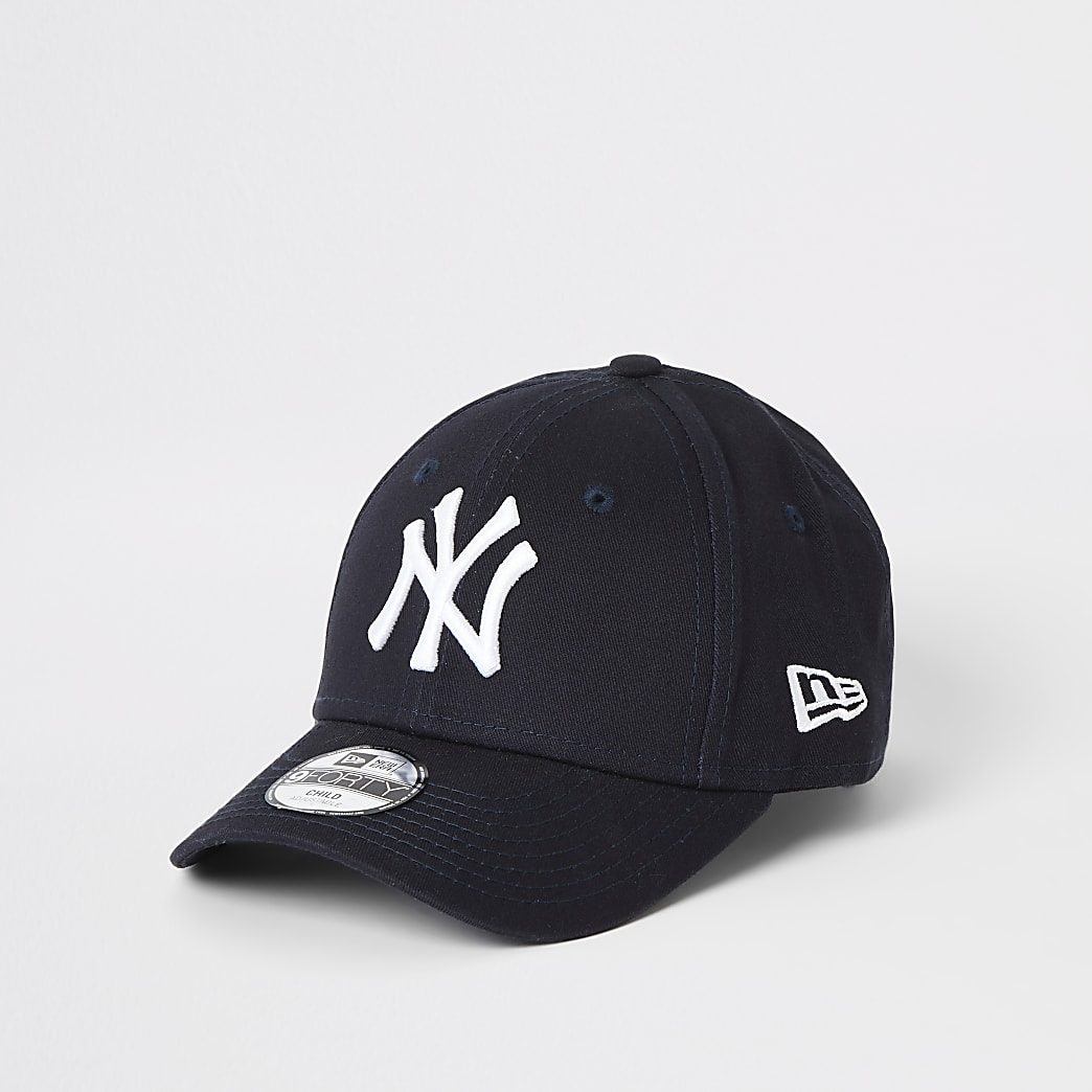 Mini boys New Era NY navy curved peak cap
