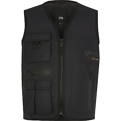 Boys black Prolific utility gilet