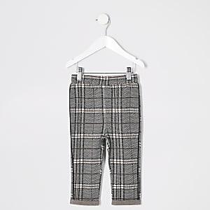 Mini - Zwarte geruite broek voor jongens