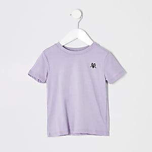 Mini - Paars T-shirt met RI-logo voor jongens