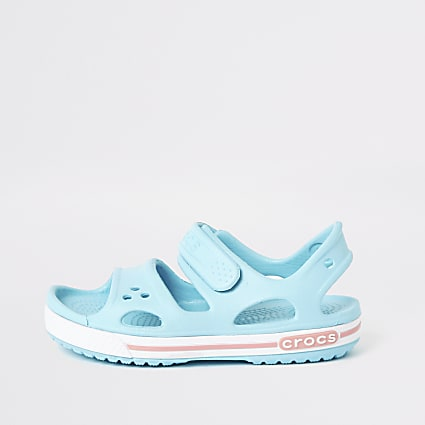 Kids Crocs light blue bayaband sandals