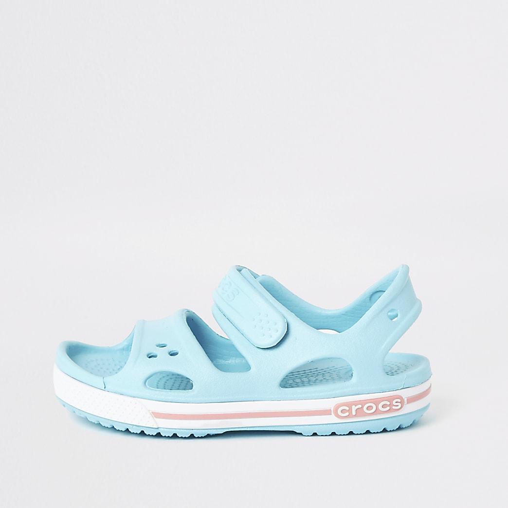 Crocs - Lichtblauwe bayaband-sandalen voor kinderen