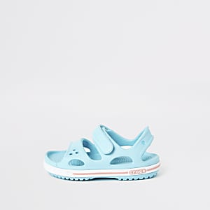 Mini kids Crocs light blue bayaband sandals