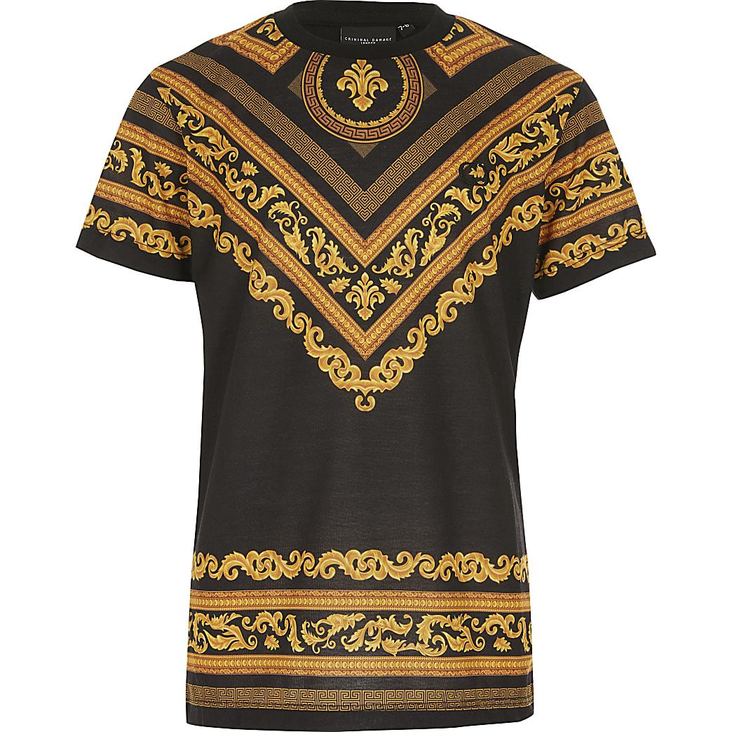 Criminal Damage – T-shirt à imprimé baroque pour garçon