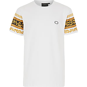 Boys Criminal Damage baroque sleeve T-shirt
