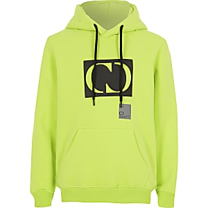 Criminal Damage - Limoengroene hoodie voor jongens