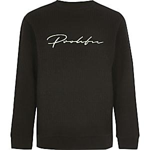 Prolific- Zwarte geribbelde pullover voor jongens