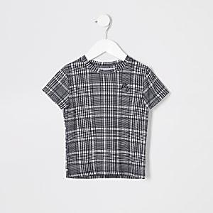 Mini - Grijs geruit T-shirt voor jongens