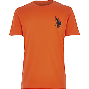 Boys orange U.S. Polo Assn.T-shirt