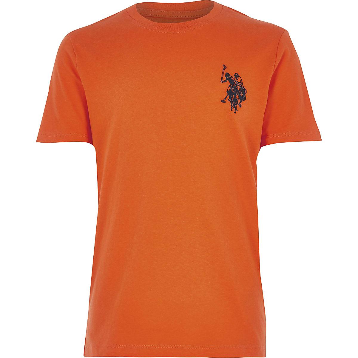 Boys orange U.S. Polo Assn.T-shirt