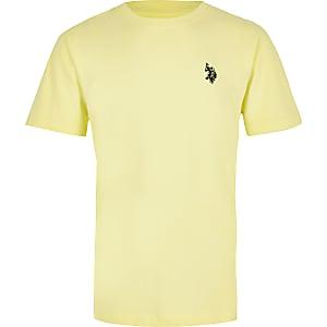 U.S. Polo Assn. – T-shirt jaune pour garçon