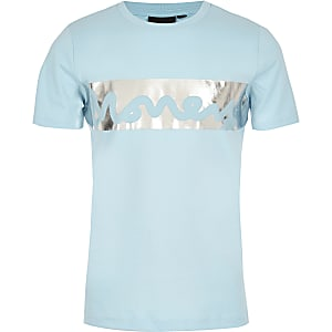 Money – Blaues, bedrucktes T-Shirt