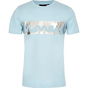 Boys blue Money foil print T-shirt