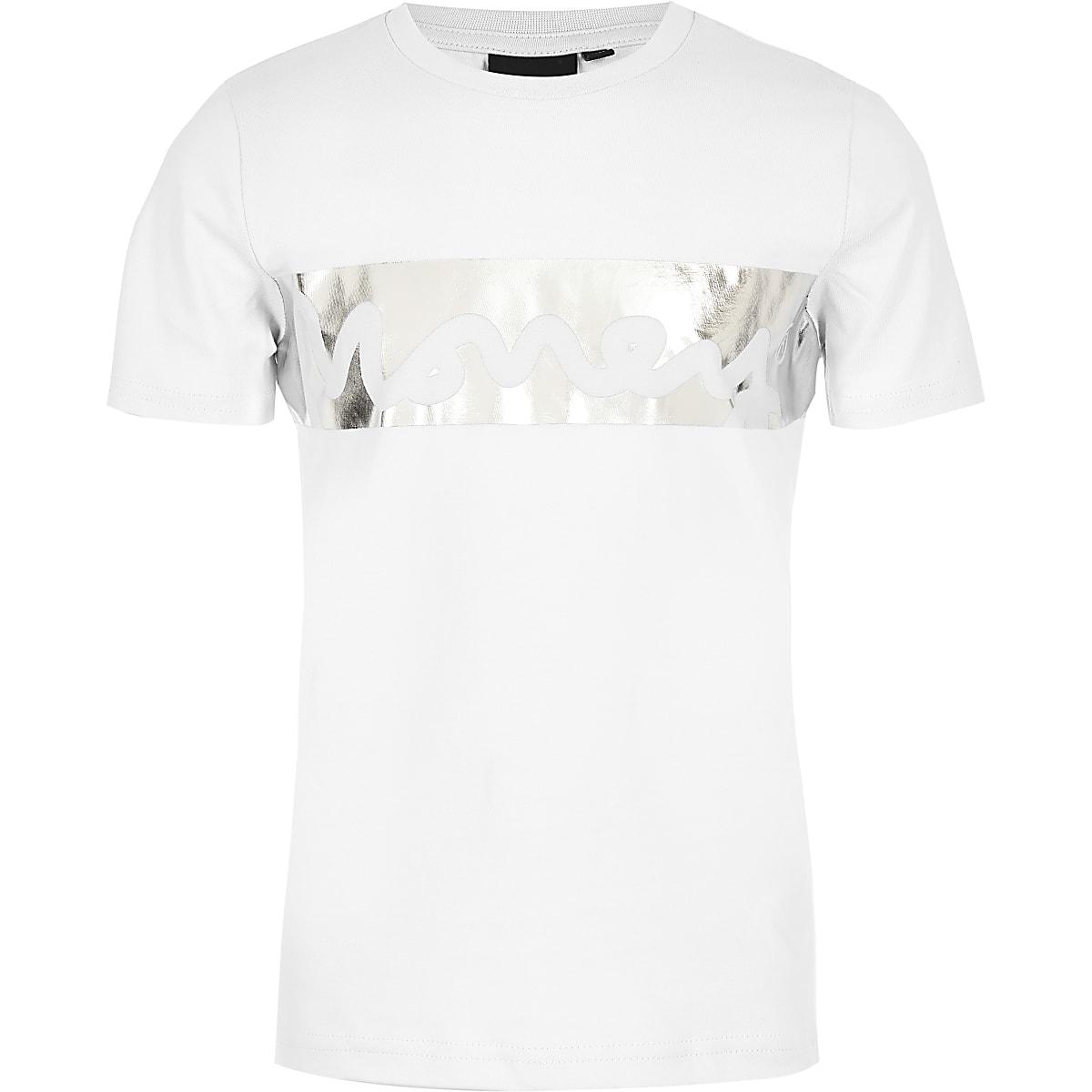 Boys white Money foil print T-shirt