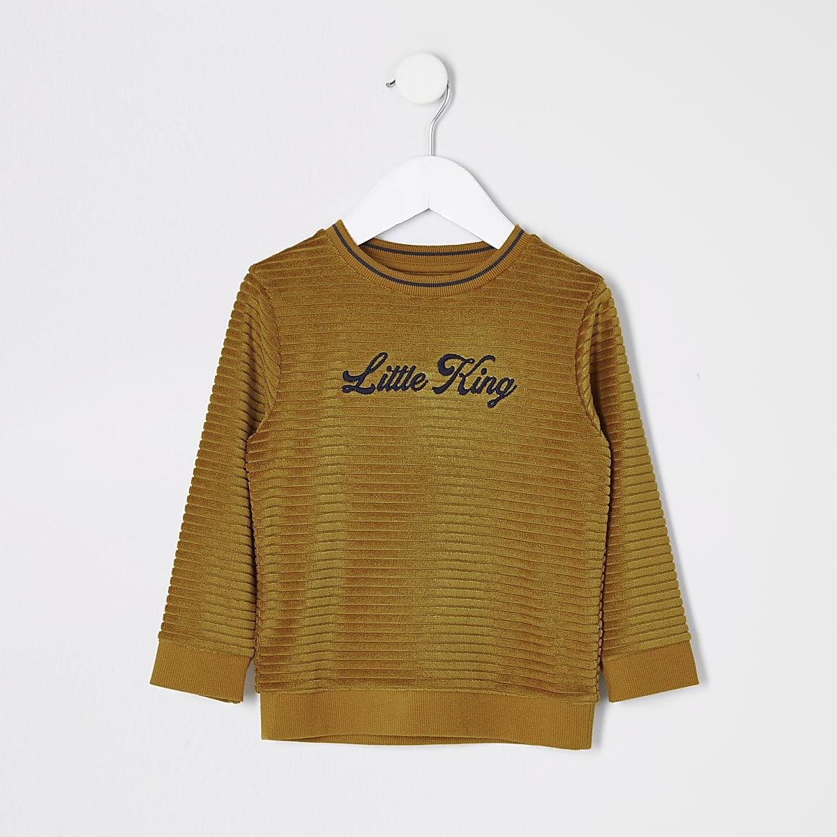 Pull jaune « Little King »Mini garçon