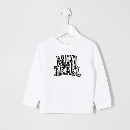 Mini boys white 'Mini rebel' sweatshirt