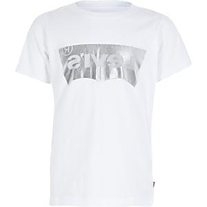 Levi's - Wit T-shirt met folielogo voor jongens