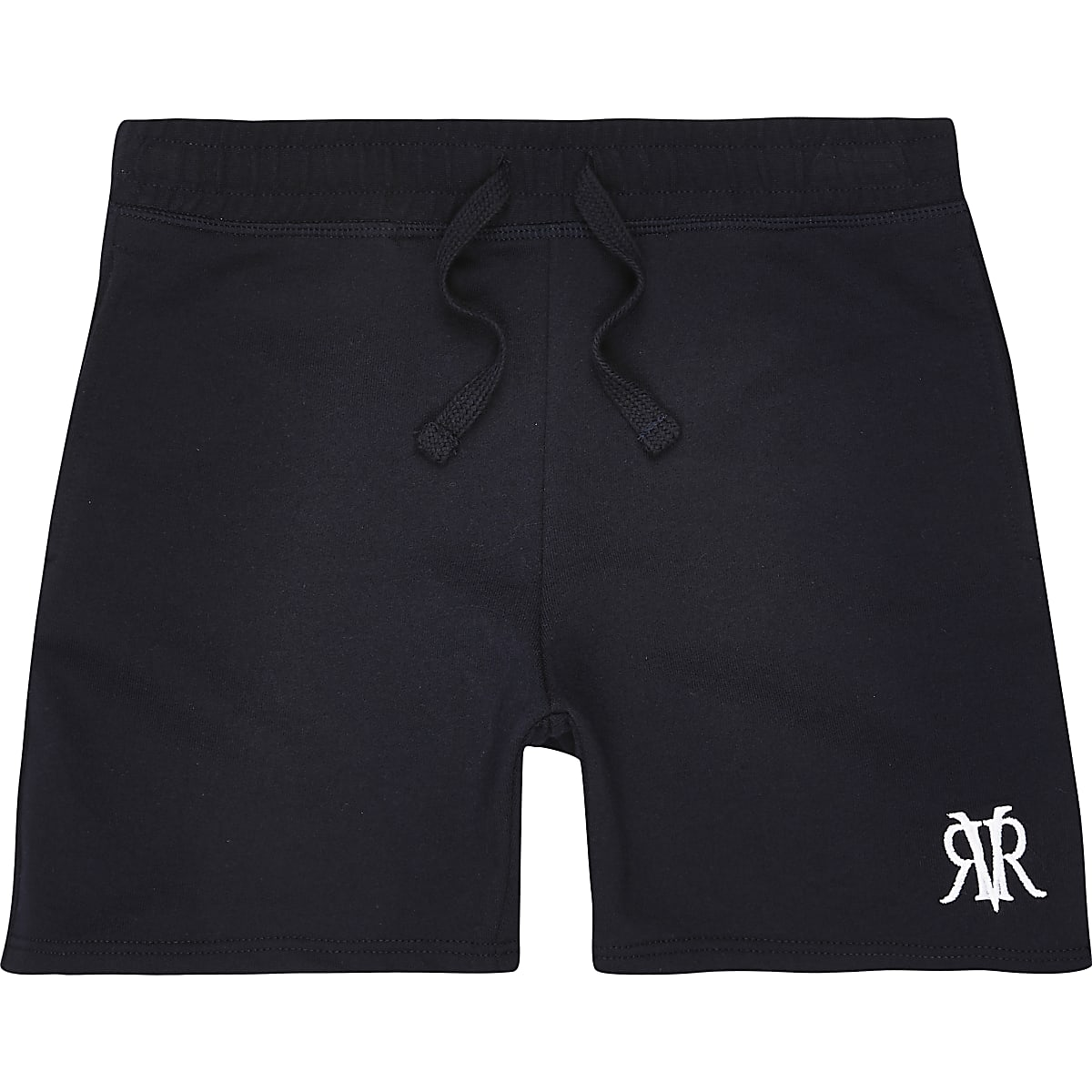 Boys navy RVR embroidered shorts