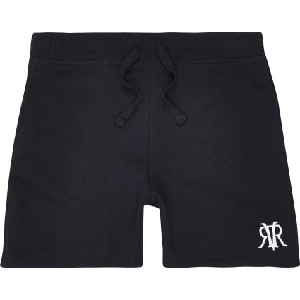 Boys navy RVR embroidered shorts