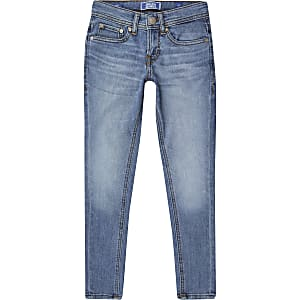 Boys Jack & Jones blue skinny jeans