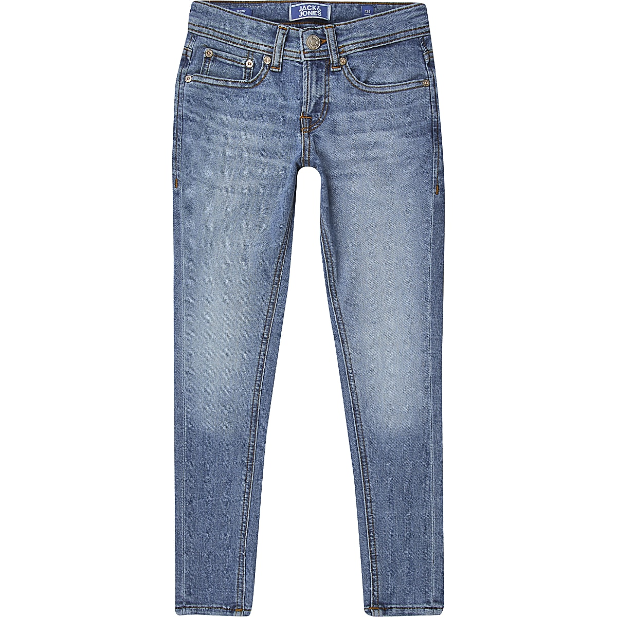 Boys Jack & Jones blue skinny jeans